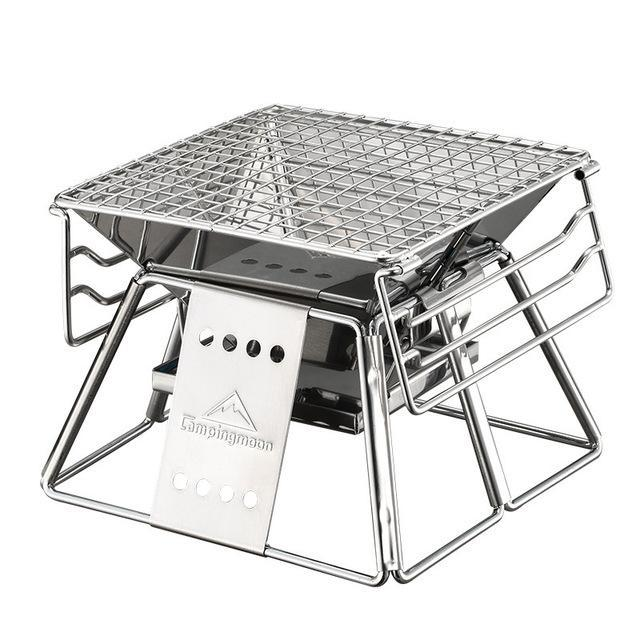 Stainless Steel Small Portable Camper Charcoal Grill Default Title - Shopptique