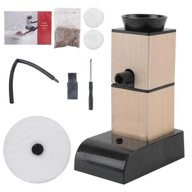 Portable Hand Held Electric Meat Smoker Generator Premium Brown - Shopptique