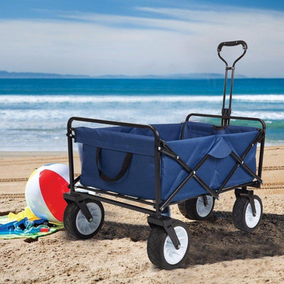 Heavy Duty Collapsible Folding Utility Beach Wagon All Terrain Cart - Shopptique