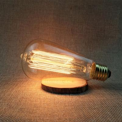 LED Vintage Edison Filament Light Bulb ST64 40W / 220V - Shopptique