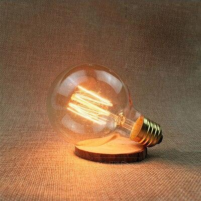 LED Vintage Edison Filament Light Bulb G80L 40W / 220V - Shopptique
