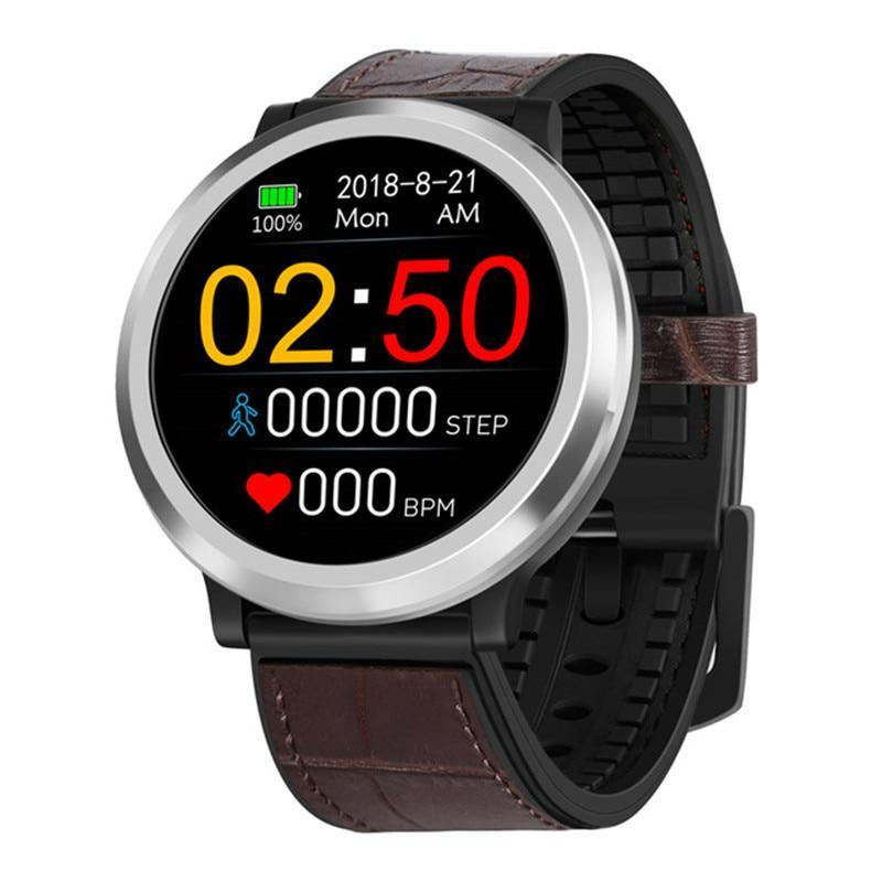 Wearable Digital Wrist Blood Pressure Monitor Watch Brown Leather - Shopptique