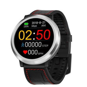 Wearable Digital Wrist Blood Pressure Monitor Watch Red-Black Leather - Shopptique