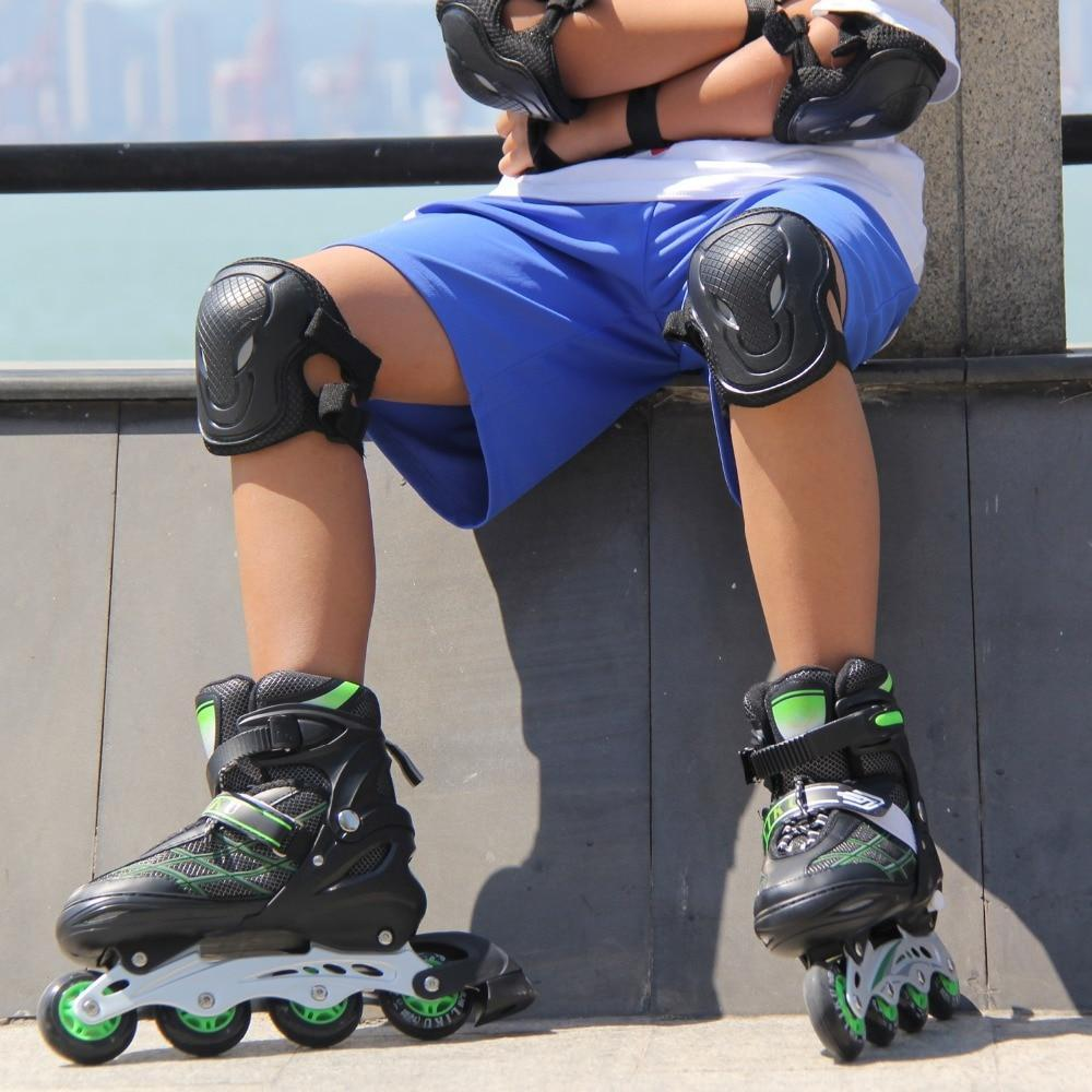 Kids Inline Hockey Roller Skate Blades Green / 18 - Shopptique