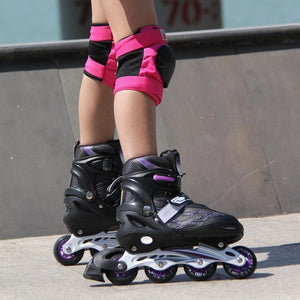 Kids Inline Hockey Roller Skate Blades Purple / 18 - Shopptique