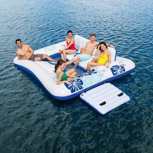 Large Inflatable Party Floating 6 People Island - Shopptique