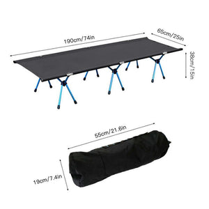 Premium Folding Camping Cot Sleeping Bed - Shopptique