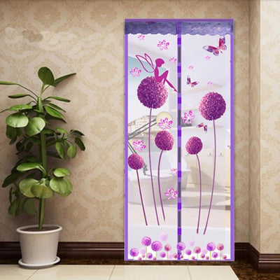 Premium Magnetic Mesh Screen Door Net Dandelion purple / 100x210cm - Shopptique