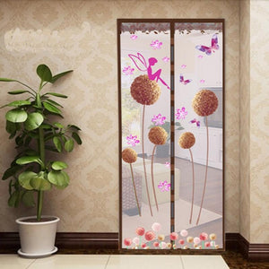 Premium Magnetic Mesh Screen Door Net Dandelion coffee / 90x210cm - Shopptique