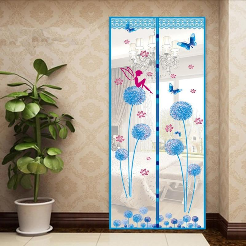 Premium Magnetic Mesh Screen Door Net Dandelion blue / 100x210cm - Shopptique