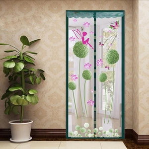 Premium Magnetic Mesh Screen Door Net Dandelion green / 100x210cm - Shopptique