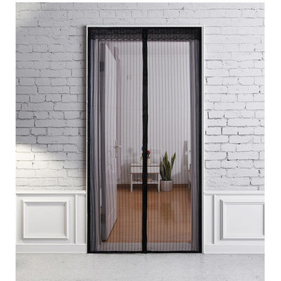 Heavy Duty Magnetic Mesh Screen Doorway Mosquito Net Black / 90x210cm - Shopptique