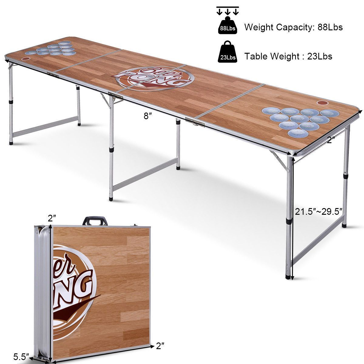 Custom Painted Beer Pong Table 8 FT - Shopptique