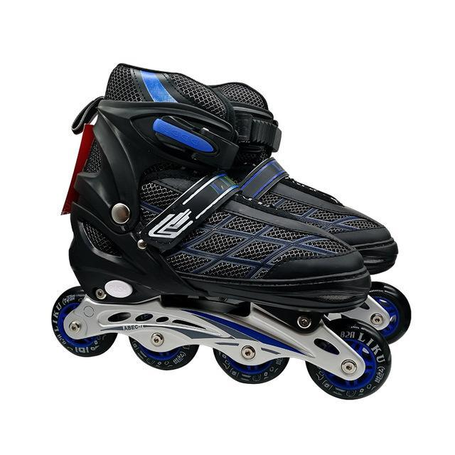 Kids Inline Hockey Roller Skate Blades Blue / 18 - Shopptique
