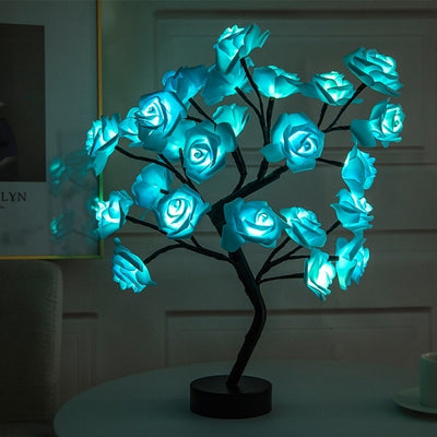 Maria Rose Lamp Pleasant Maria Rose Lamp Blue - Shopptique
