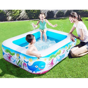 Inflatable Blow Up Above Ground Plastic Swimming Pool - Shopptique