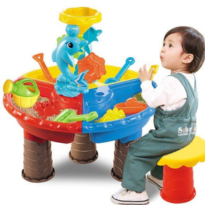 Water And Sand Play Table For Kids Dolphin Round - Shopptique