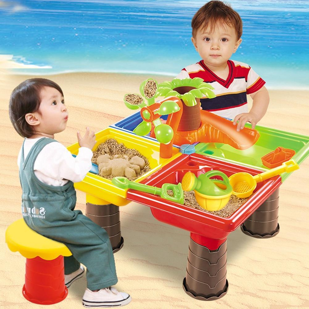 Water And Sand Play Table For Kids Small Tree Square - Shopptique