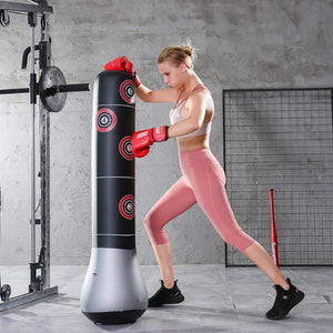 Heavy Duty Free Standing Punching Bag Punching Bag Silver - 1.5M - Shopptique