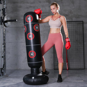 Heavy Duty Free Standing Punching Bag Punching Bag Black - 1.6M - Shopptique