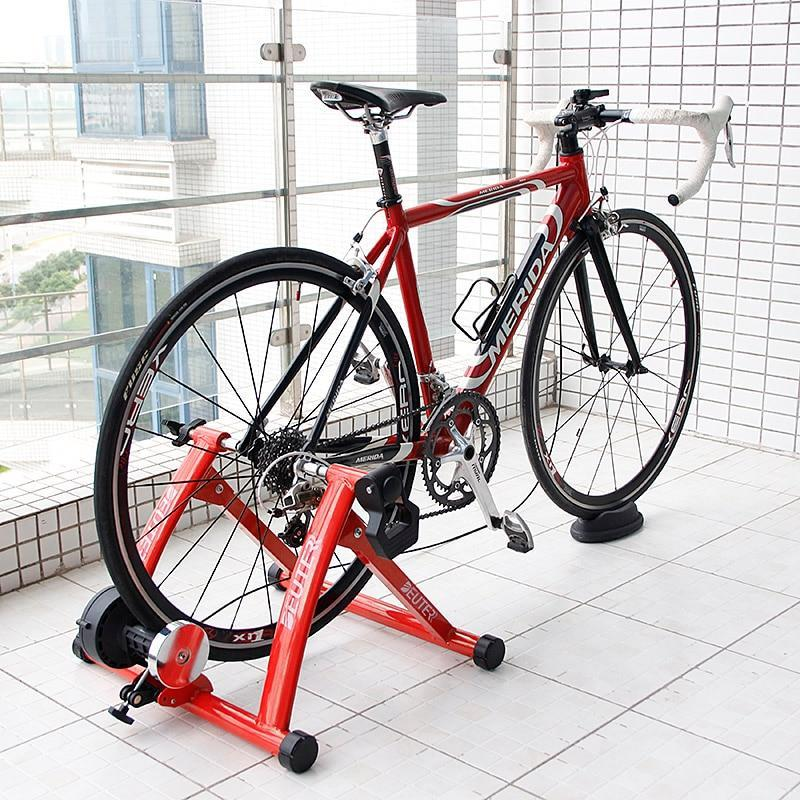 Deluxe Indoor Stationary Bike Trainer Exercise Stand Red - Shopptique