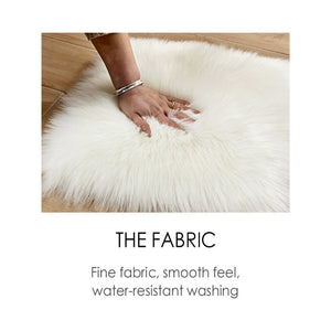 Fluffy™ Heart Love Rug uper Soft Faux Sheepskin Fur Area Rugs for Bedroom Floor Shaggy Plush Carpet Faux Fur Rug Bedside Rugs - Shopptique
