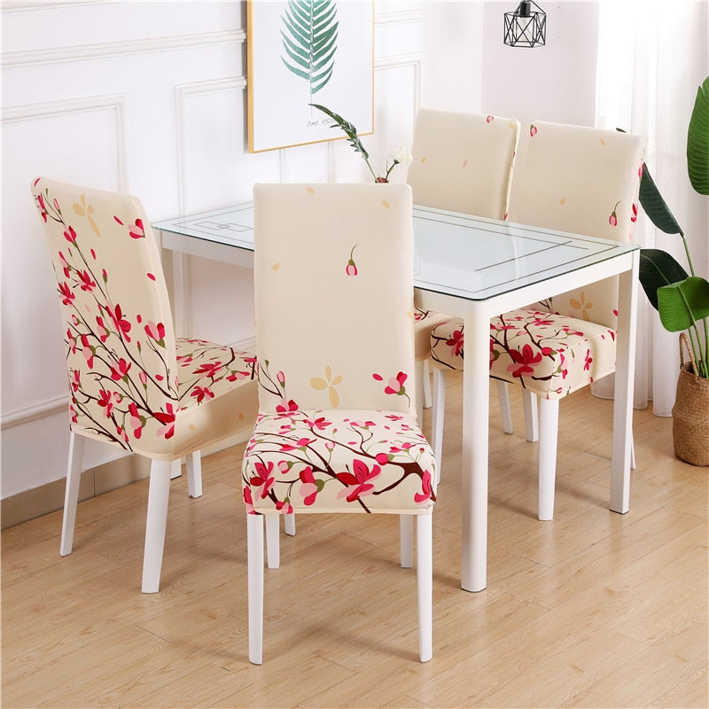 EasyFit Strech Dining Chair Slipcovers Stretch Armless Chair Slipcover for Dining Room Seat Cushion Color 1 / 2 pieces - Shopptique