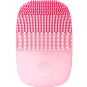 Waterproof and USB Rechargeable Silicone Facial Cleansing Brush Smart Sonic Clean Electric Deep Facial Cleaning Massage Brush Wash Face Care Cleaner Rechargeable Pink - Shopptique