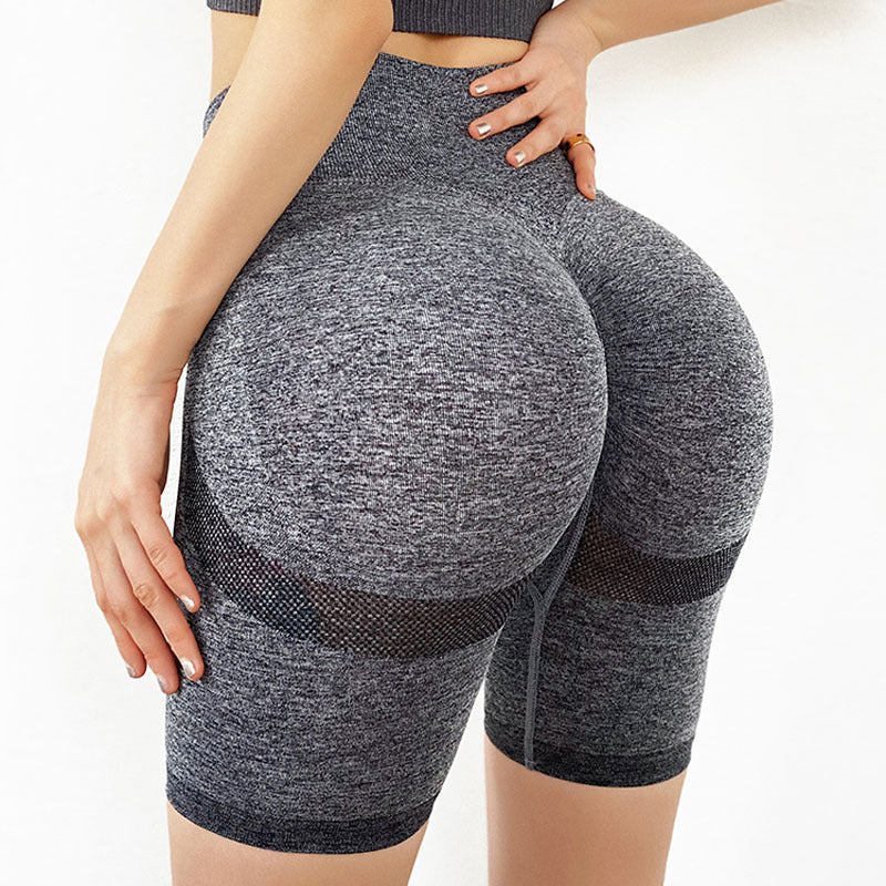 Stretch-Flex Performance Shorts Women Seamless Yoga Shorts High Waist Butt Lifting Sports Tights Squat Proof Gym Workout Fitness Active Wear Legging - Shopptique