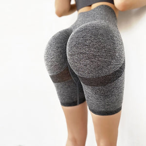 Stretch-Flex Performance Shorts Women Seamless Yoga Shorts High Waist Butt Lifting Sports Tights Squat Proof Gym Workout Fitness Active Wear Legging Gray / L - Shopptique