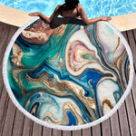 Vinatge Luxury Marble Beach Towel ROUND MICROFIBER BEACH TOWEL Royalty - Shopptique