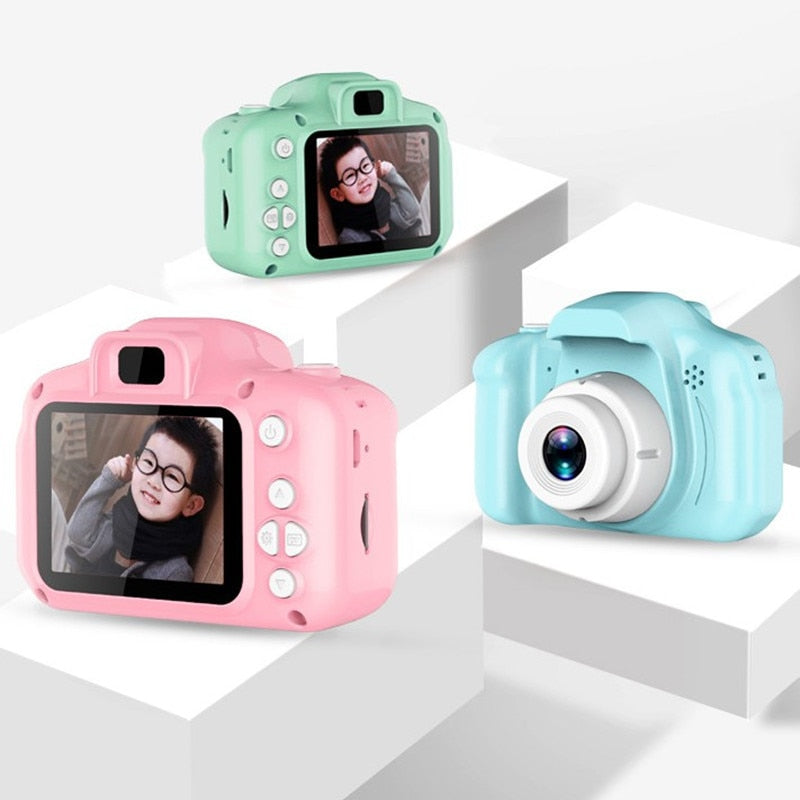 EduKids Digital Video Camera For Kids Children Kids Camera Mini Educational Toys For Children Baby Gifts Birthday Gift Digital Camera 1080P Projection Video Camera Pink - Shopptique
