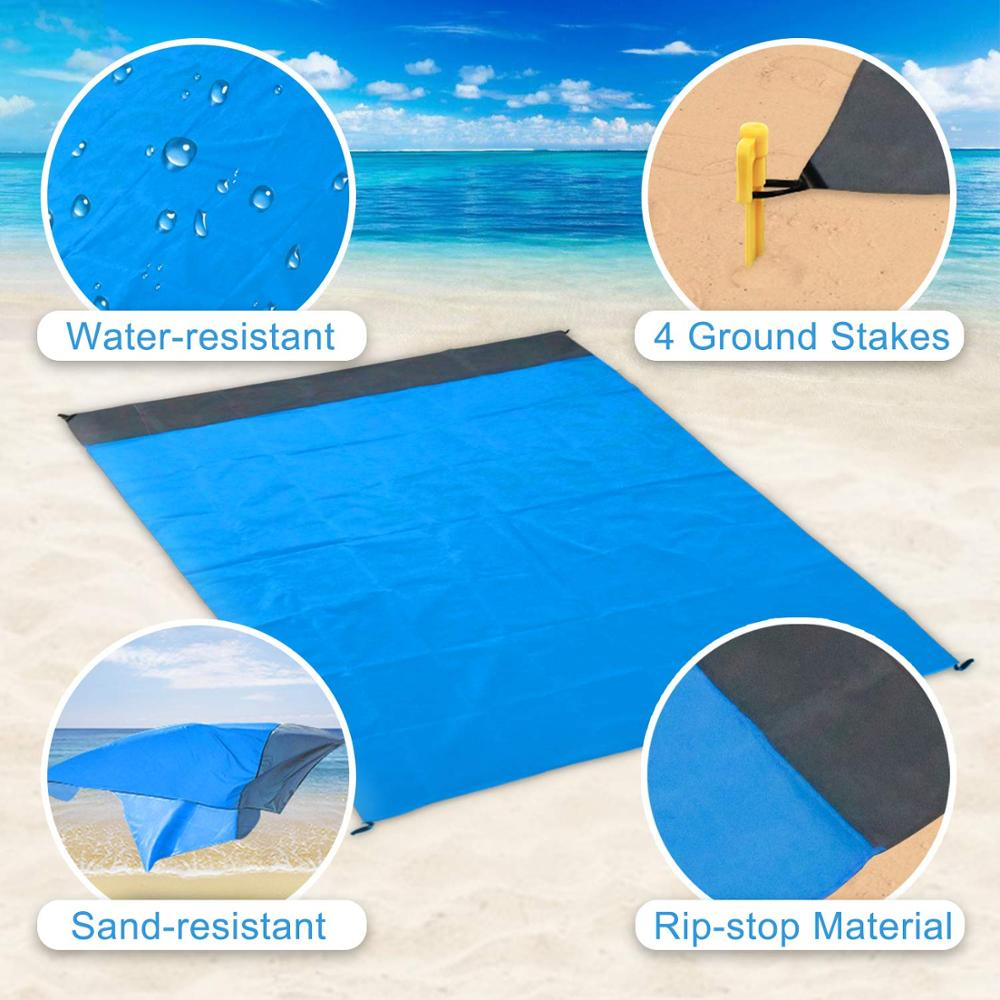 Sand Free Beach Mat Sand Free Beach Mat Blanket Sand Proof Magic Sandless Sand Dirt & Dust Disappear - Outdoor Picnic Mat for Travel, Camping, Hiking - Shopptique