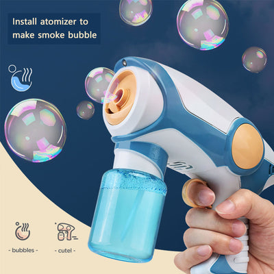 BubbleBomb-Bubble Blaster Smoke Magic Bubble Machine Electric Automatic Bubble Blower Maker Gun Kids Outdoor Toys Birthday Gift Blue - Shopptique