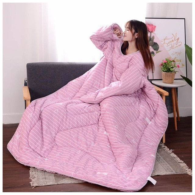 Lazyblanket- Quilted Blanket W/Hoody Lazy Quilted Blanket Hoody 150x200cm Pink Littl - Shopptique