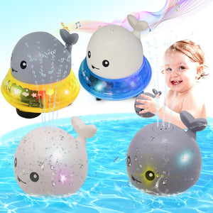 2 in 1 Baby Bath Toy bathroom water spray toy - Led Light Water Spray Ball Baby Bath Water Toys Automatic Induction Toys Set of both [65% OFF] - Shopptique