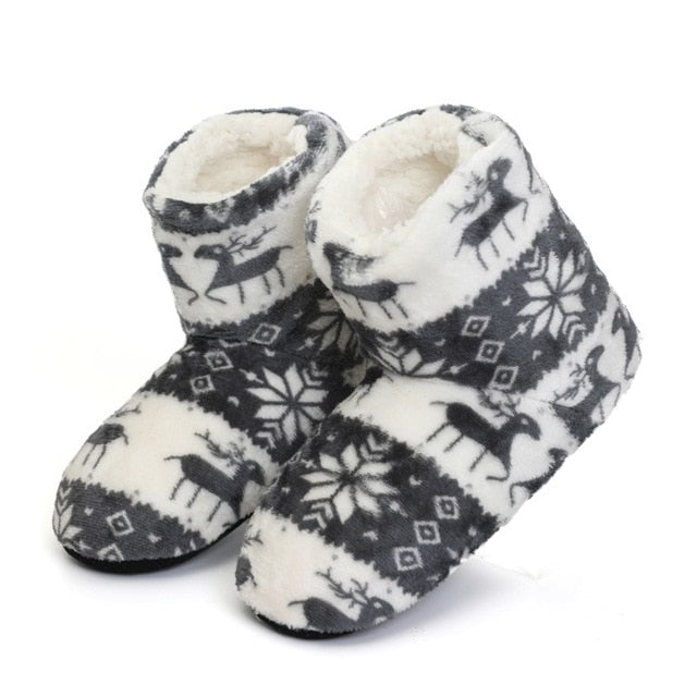 Super Soft Fleece House Shoes Winter furry slides Women Slippers Warm Plush Flip Flops - Shopptique