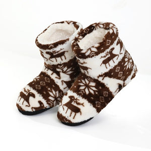 Super Soft Fleece House Shoes Winter furry slides Women Slippers Warm Plush Flip Flops Coffee / 5.5 - Shopptique