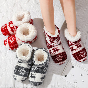 Super Soft Fleece House Shoes Winter furry slides Women Slippers Warm Plush Flip Flops Grey / 9.5 - Shopptique