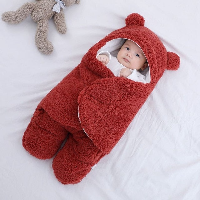 BuddyBed- Ultra Soft Baby Sleeping Bag Baby Sleeping Bag Ultra-Soft Fluffy Fleece Newborn Receiving Blanket Infant Boys Girls ClothesSleeping Nursery Wrap Swaddle Red / For 3 Months - Shopptique