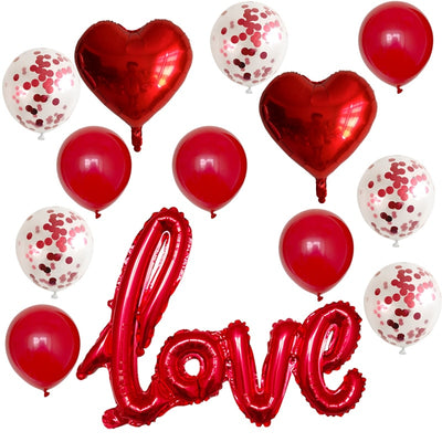 I LOVE YOU Balloons for Valentines Day Decorations - Pack of 13 I LOVE YOU Balloons for Valentines Day Decorations - Pack of 13 Heart Ballons Valentine Day Birthday Party Decorations - Shopptique
