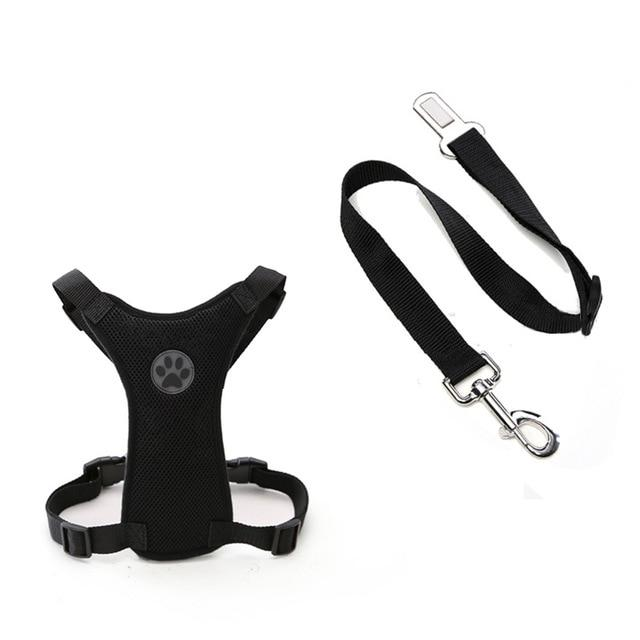 Dog Car Harness Seat Belt Restraint Black / S - Shopptique