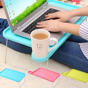 Portable Laptop Bed Table Stand Blue - Shopptique