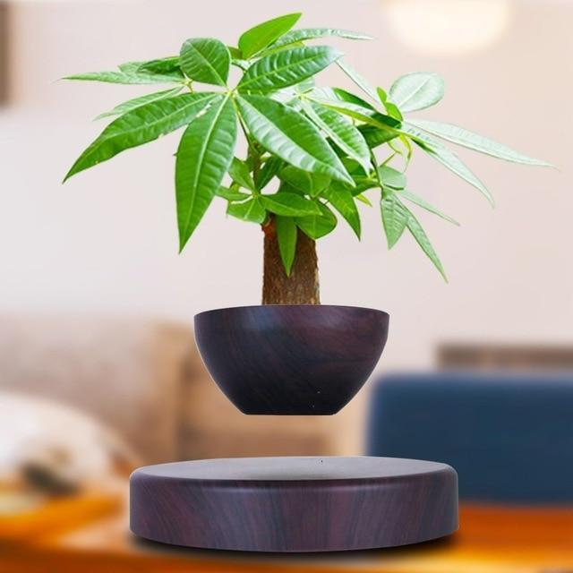Levitating Magnetic Bonsai Tree Planter Pot Black - Shopptique