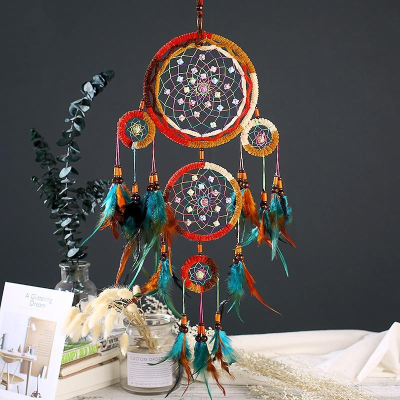 Large Crochet Native American Dream Catcher 26.7in - Shopptique