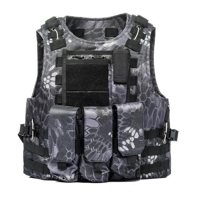 Military Tactical Plate Carrier Vest B Snake / One Size - Shopptique