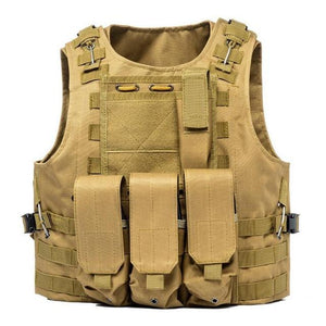 Military Tactical Plate Carrier Vest Khika / One Size - Shopptique