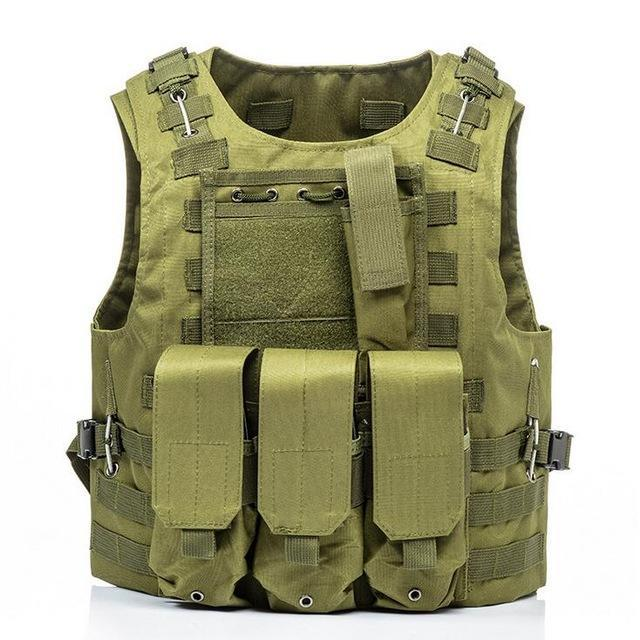 Military Tactical Plate Carrier Vest Green / One Size - Shopptique
