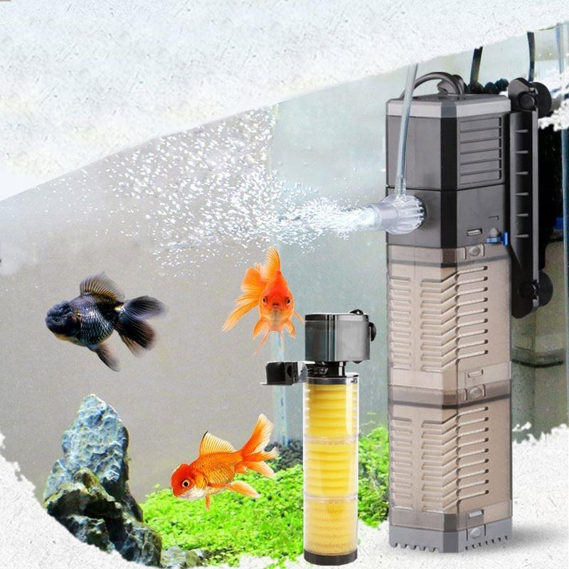 Fish Tank Aquarium Filter 3 in 1 CHJ-502 / US adapter plug - Shopptique