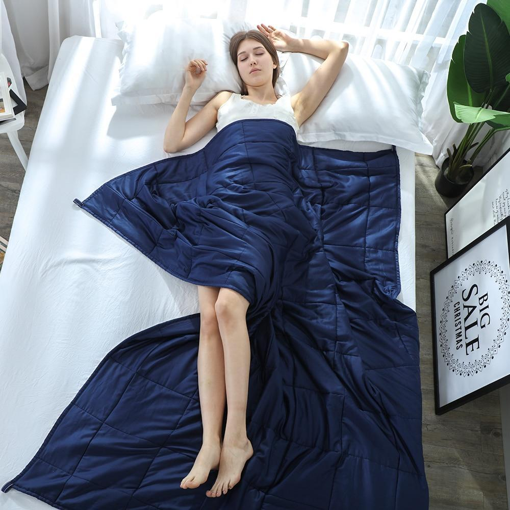 Weighted Compression Gravity Stress Blanket Navy / 90x122cm 2.3kg - Shopptique